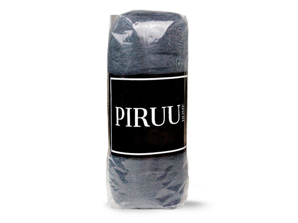 Prześcieradło Jersey 180x200 bawełna z gumką CIEMNO SZARE PIRUU