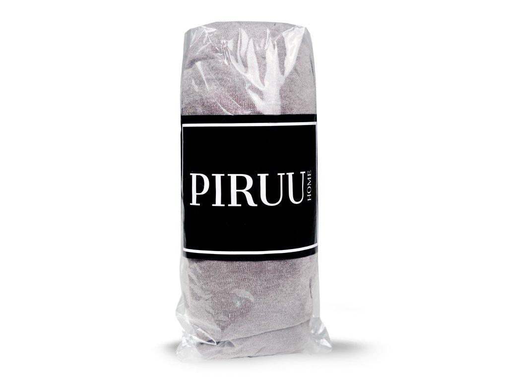 Prześcieradło Jersey 200x220 bawełna z gumką JASNY POPIEL PIRUU