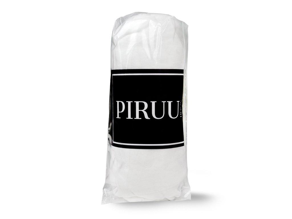 Prześcieradło Jersey 90x200 bawełna z gumką BIAŁE PIRUU