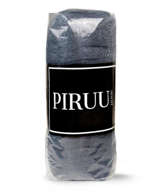 Prześcieradło Jersey 90x200 bawełna z gumką CIEMNO SZARE PIRUU