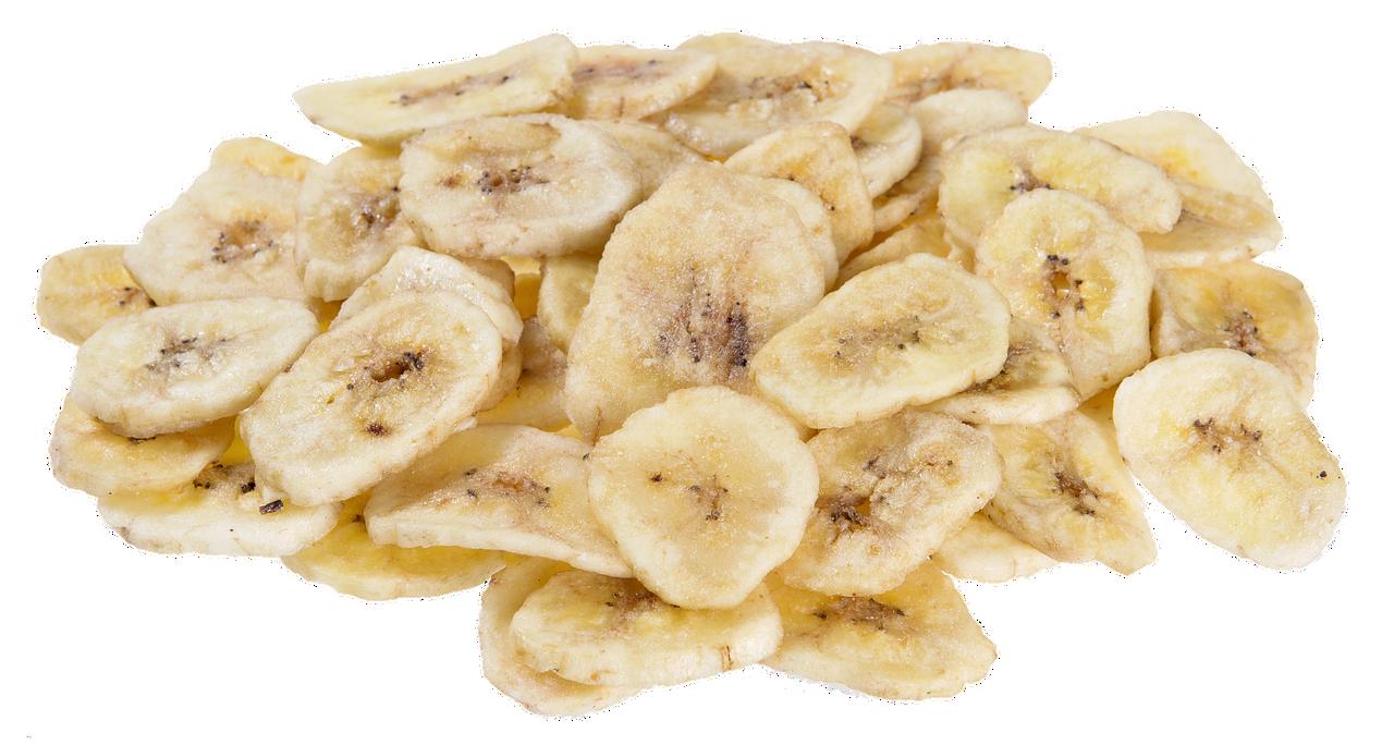 Pieczone chipsy bananowe z dodatkiem orzechów