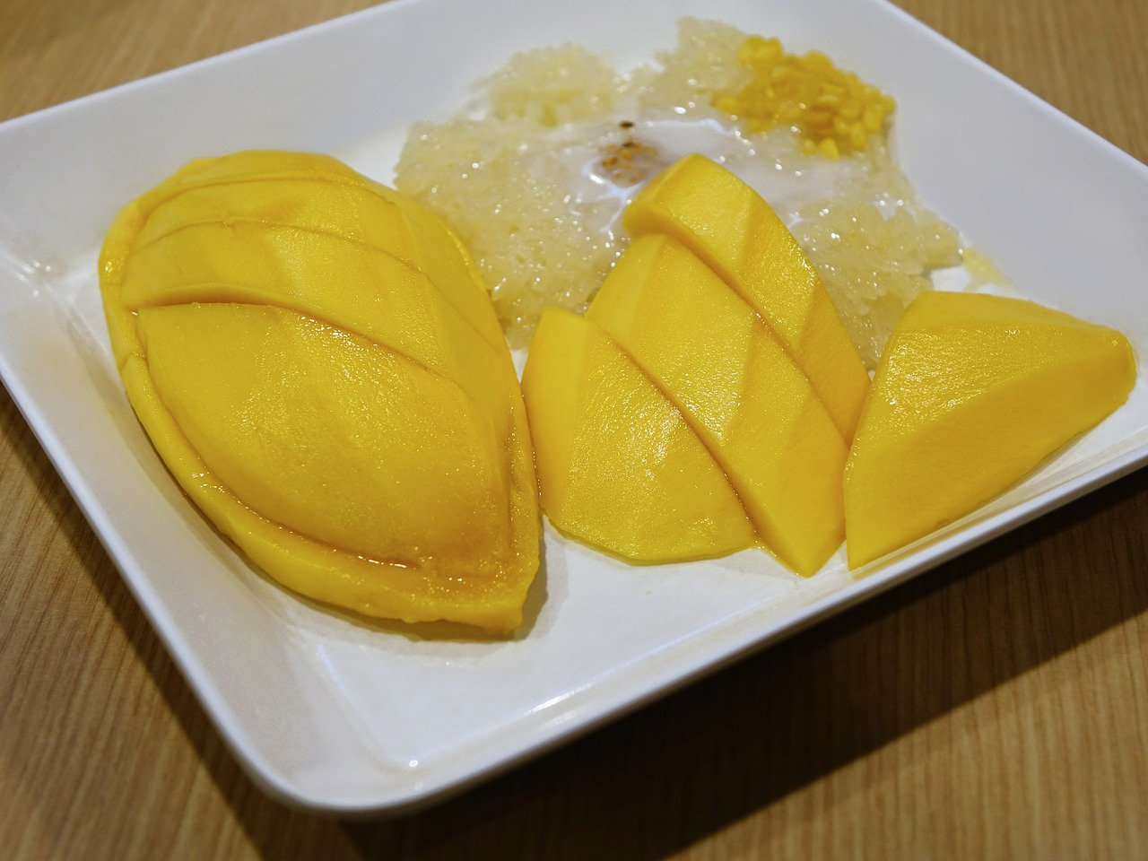 Ryż arborio z mango i mlekiem kokosowym