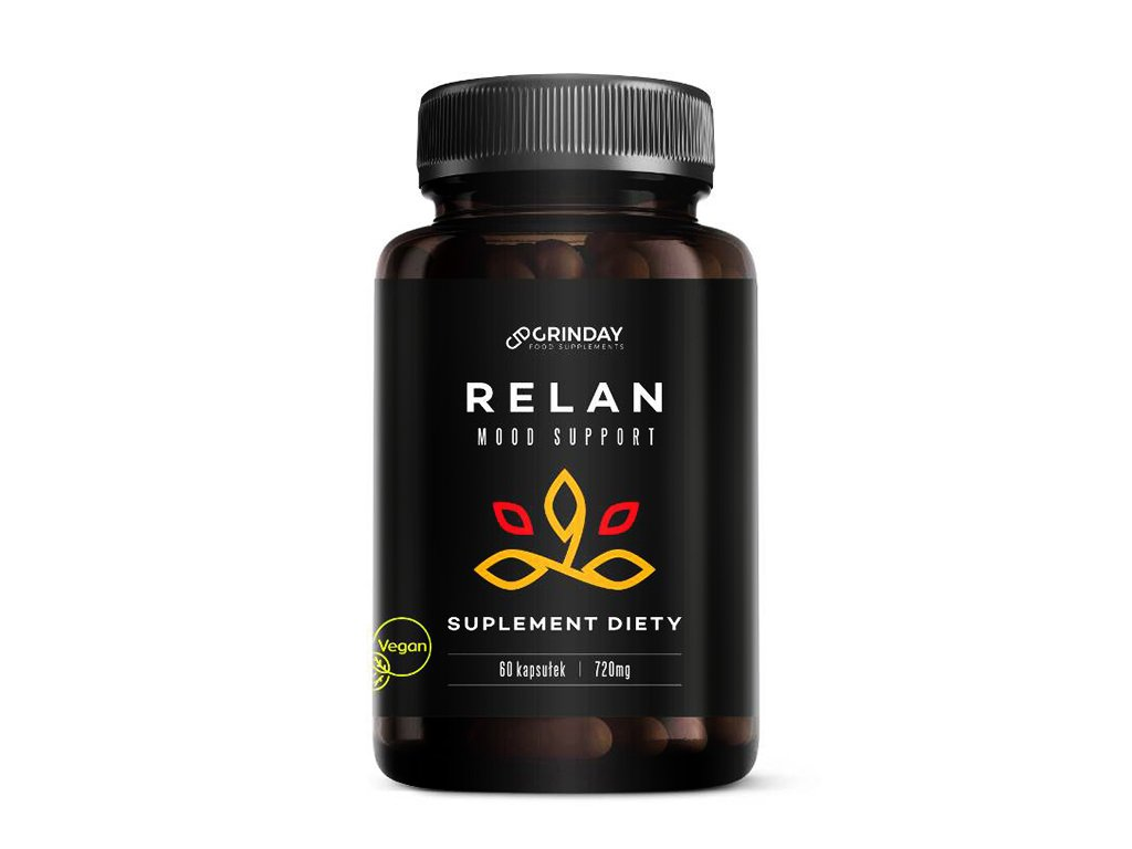 Relan - naturalny antydepresant 60 kapsułek Grinday