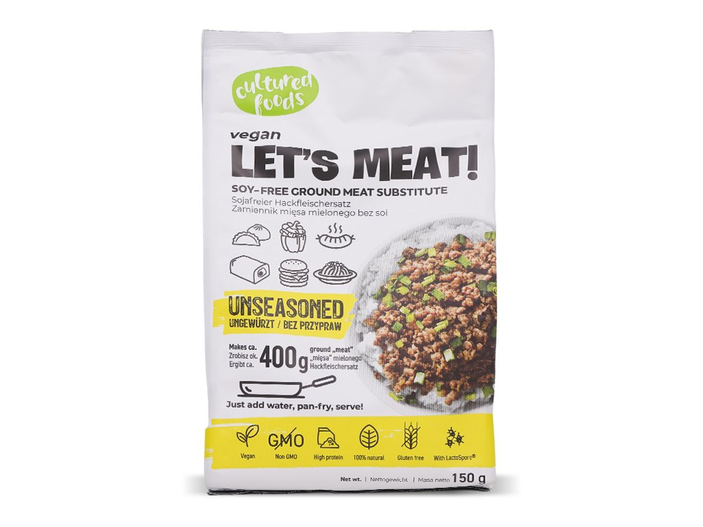 Roślinny zam. mięsa 150g bez przypraw Cultured