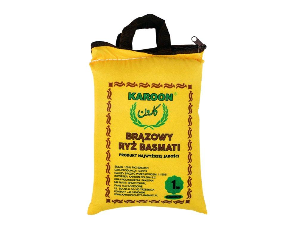Ryż Naturalny Brązowy Basmati 1kg Karoon