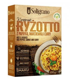 Ryżotto z papryką, marchewką i curry 100g Soligrano