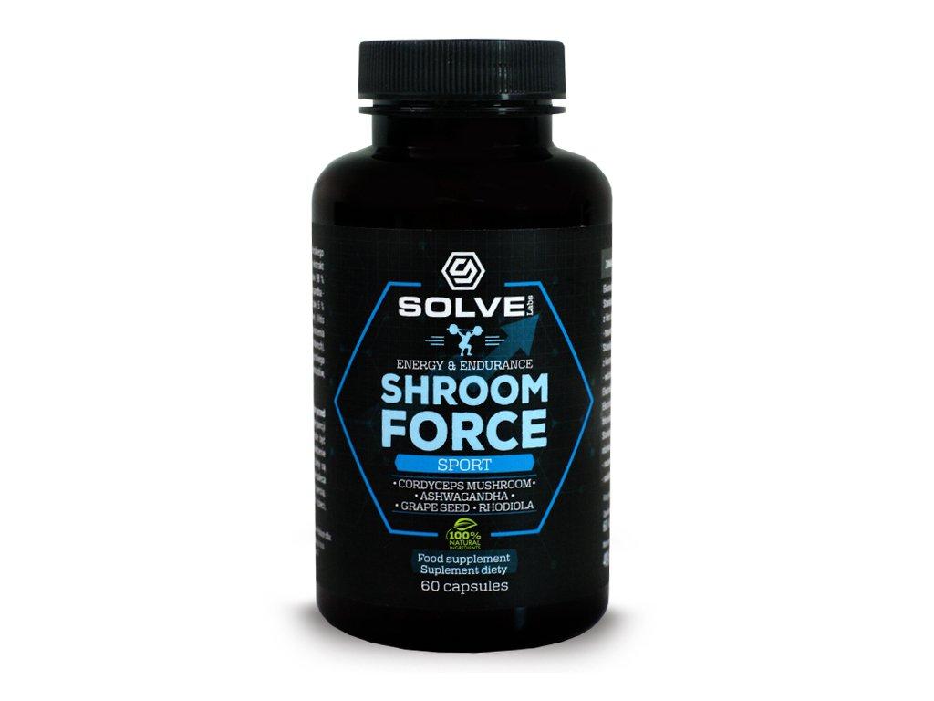 Adaptogeny Shroom Force Cordyceps 60 kapsułek SOLVE