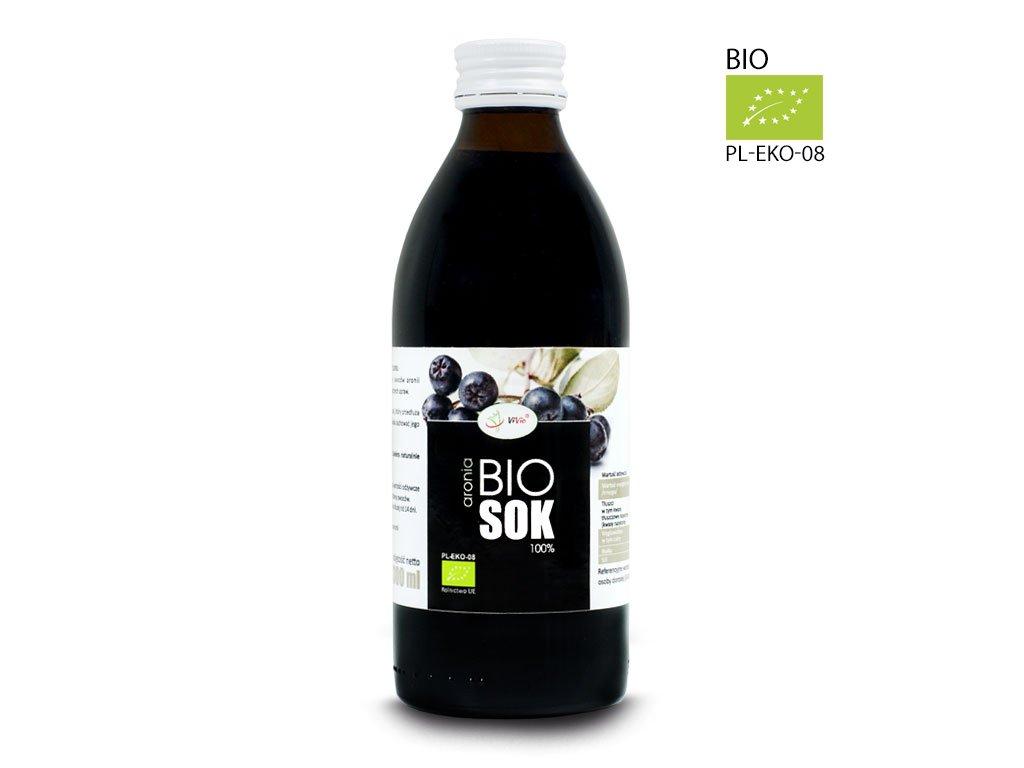 Sok aroniowy Ekologiczny, aronia sok naturalny 100% tłoczony