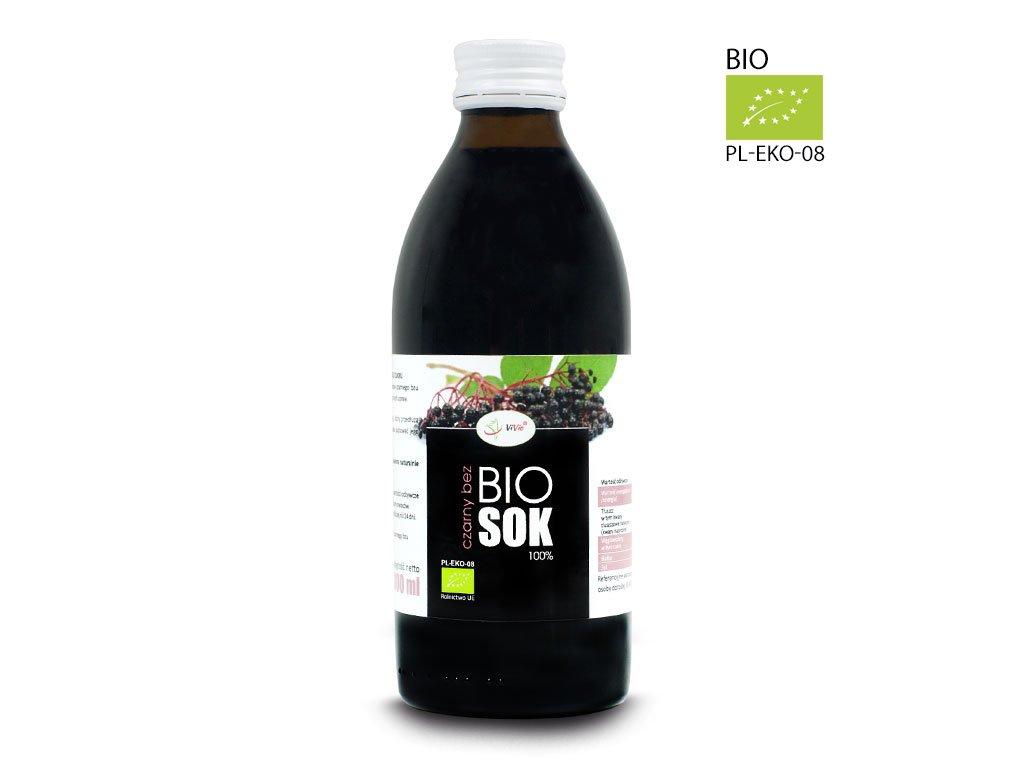 Sok z czarnego bzu Ekologiczny czarny bez sok naturalny 100% tłoczony