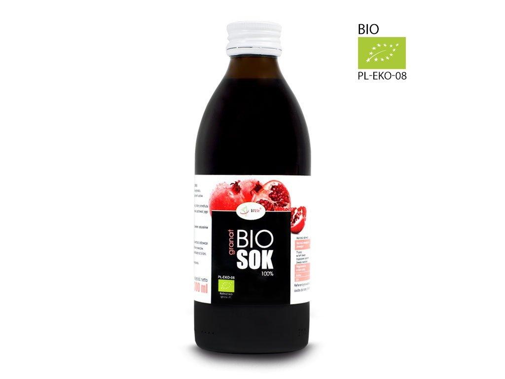 Sok z granatu Ekologiczny sok granat naturalny 100% tłoczony