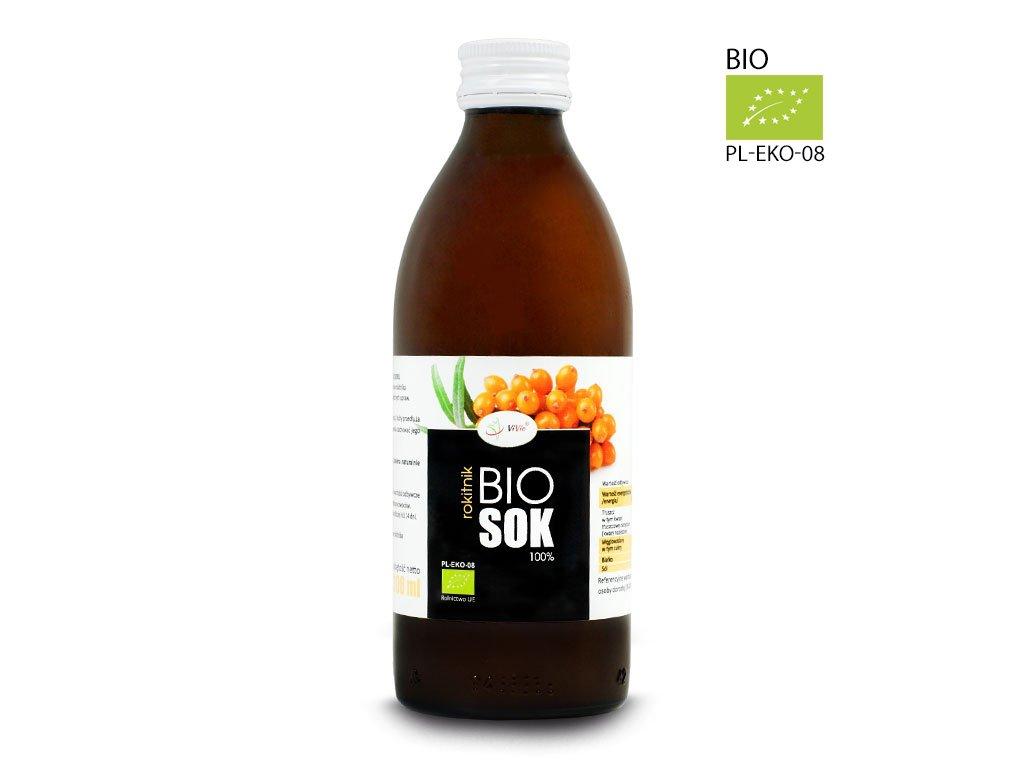 Sok z rokitnika Ekologiczny, rokitnik sok naturalny 100% tłoczony