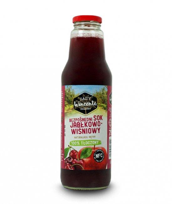 sok jabłko wiśnia cena, sok jabłkowo wiśniowy naturalniemętyn cena