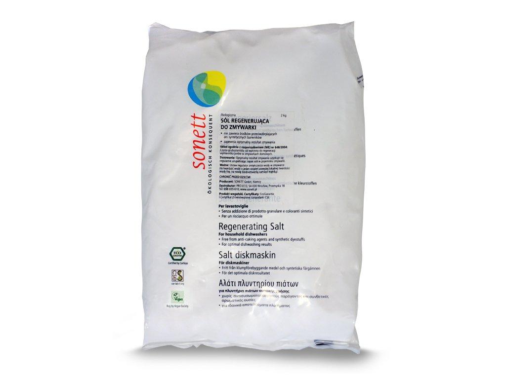 Ekologiczna sól regenerująca do zmywarki Sonett 2000g