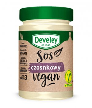 Sos czosnkowy vegan 210g Develey