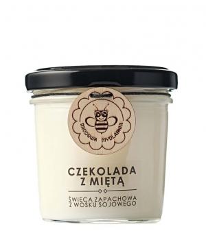 Świeca czekolada z miętą 120ml M.Mydlarnia