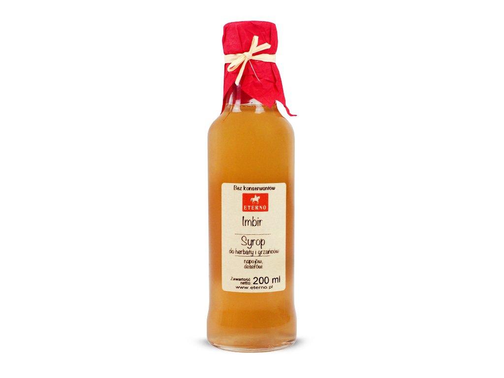 Syrop do herbaty i grzańców imbir 200 ml ETERNO