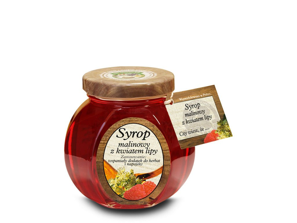 Syrop malinowy z kwiatem lipy cena zastosowanie