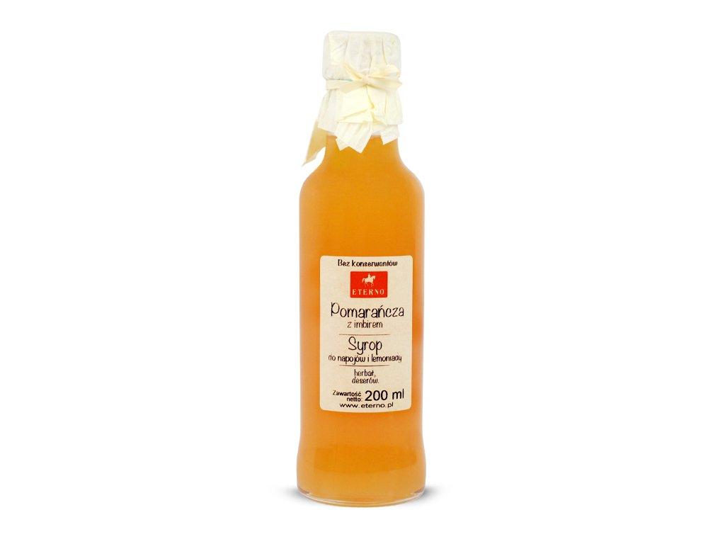 Syrop pomarańczowy z imbirem 200ml ETERNO