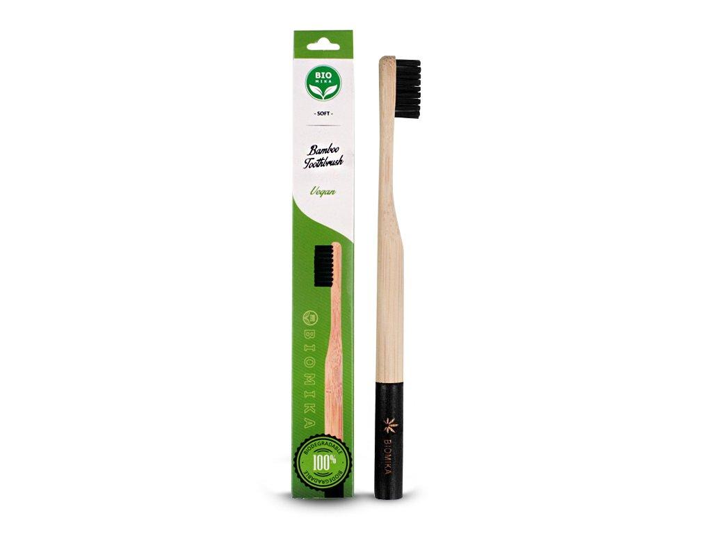 Szczoteczka do zębów bambusowa czarna miękka 1 szt