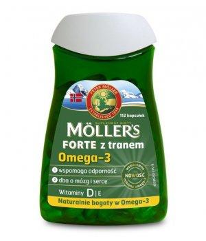 Tran forte omega-3 112 kapsułek Moller's