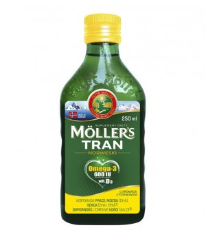 Tran Norweski cytrynowy 250ml Moller's