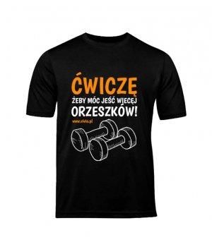 T-shirt XL męski czarny napis ĆŻJWO