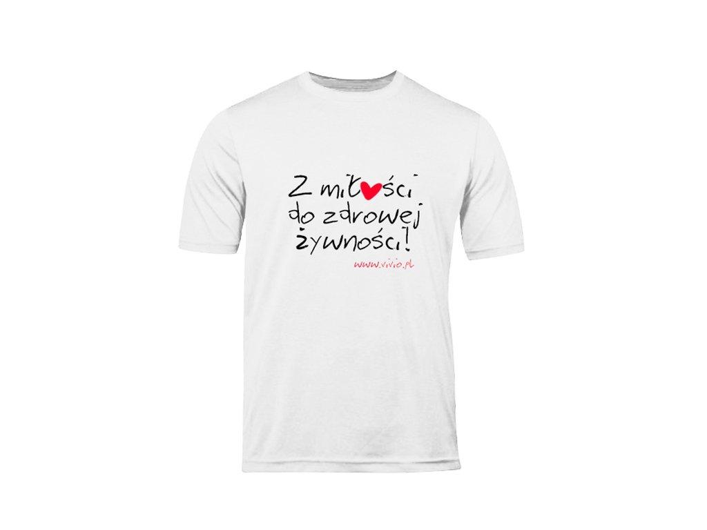 T-shirt L męski biały napis ZMDZŻ