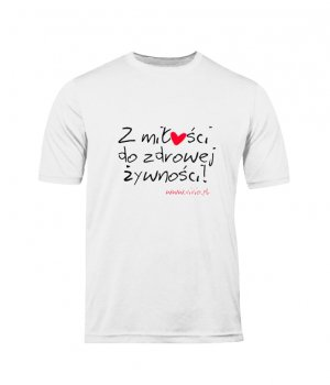 T-shirt M męski biały napis ZMDZŻ