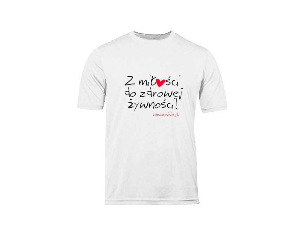 T-shirt S męski biały napis ZMDZŻ