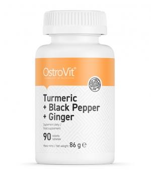 Turmeric+black pepper+ginger 90tabs OstroVit