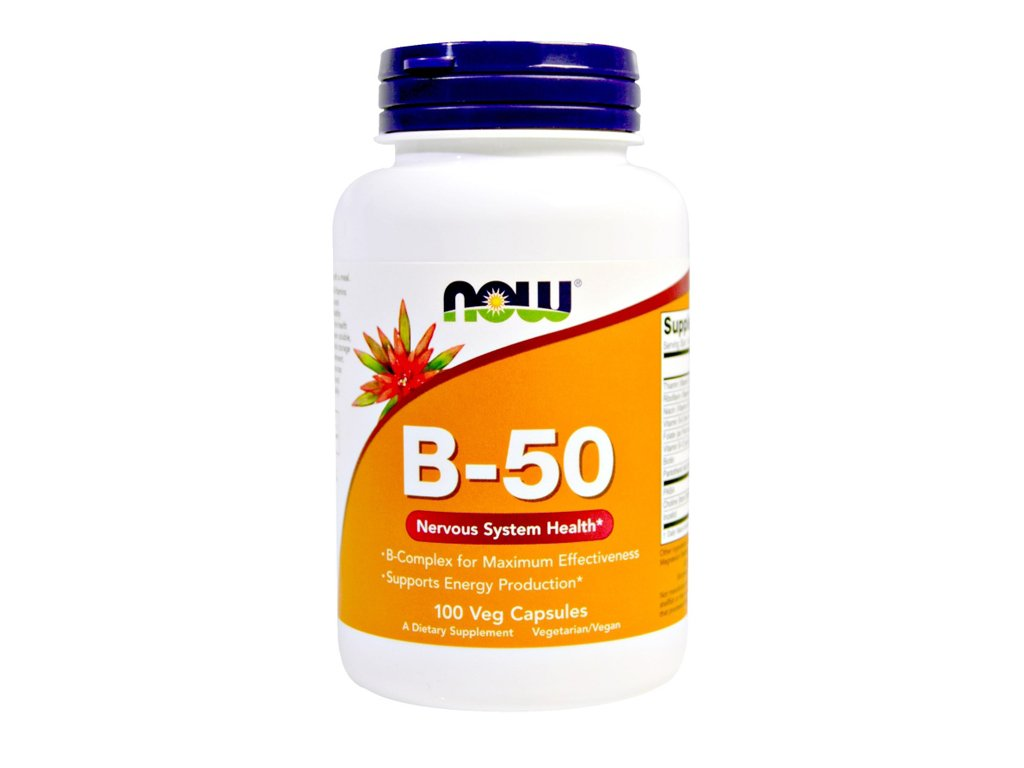 NOW - Vitamin B-50 Complex 100 kapsułek