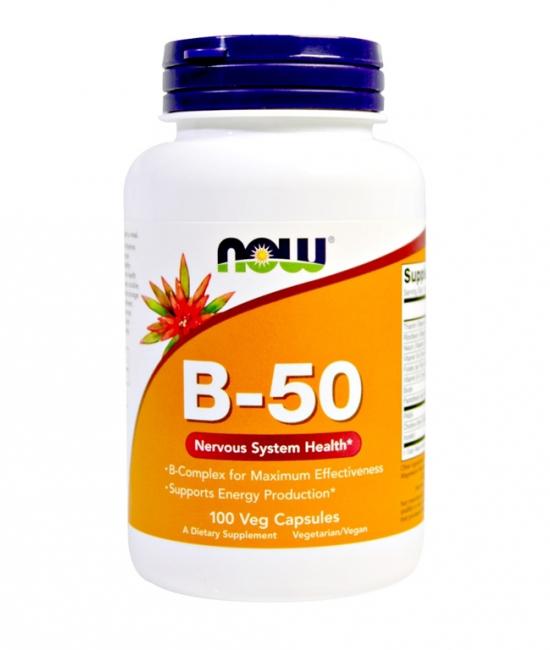 NOW - Vitamin B-50 Complex 100 kapsułek
