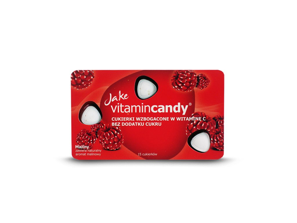 Cukierki witaminowe malina 18g Jake VitaminCandy