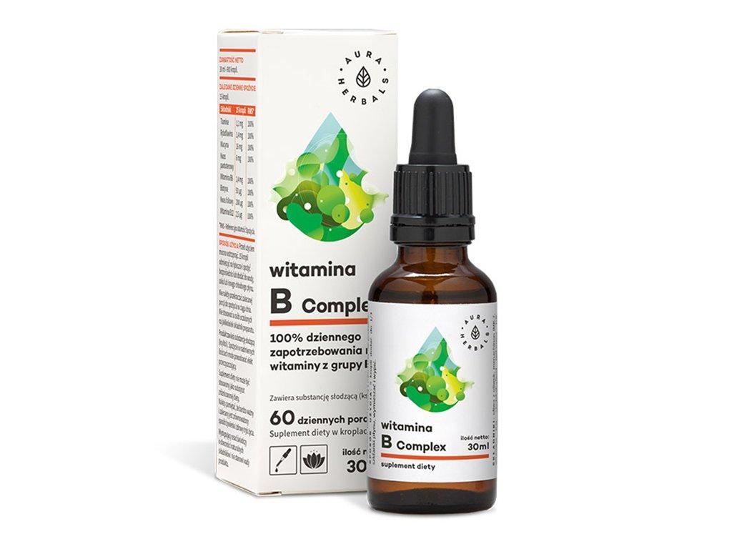 Witamina B Complex krople 30ml Aura Herbals
