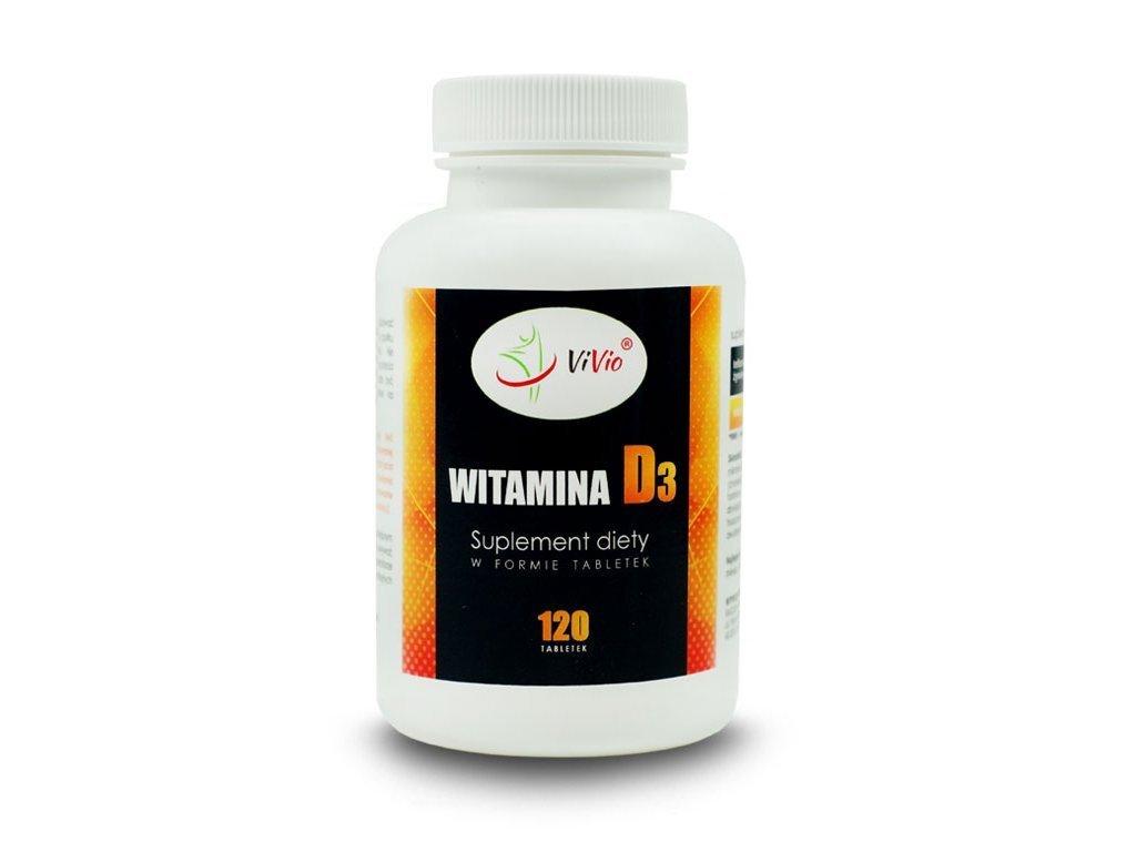 Witamina D3 120 tabletek, niedobór witaminy D3