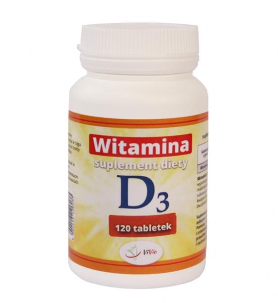 Witamina D3 - 120tab - 25 µg (1000 IU)