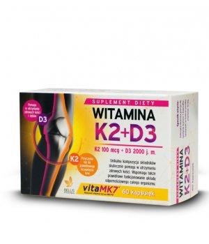 Witamina D3+K2 MK7 2,000IU+K2-MK7 50mcg 60kaps.