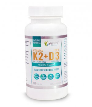 Witamina K2MK7+D3 2000IU 120 tabletek WISH