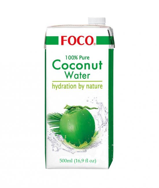 Woda kokosowa 500ml, elektrolity, najzdrowszy napój na świecie, woda z miąższu kokosa