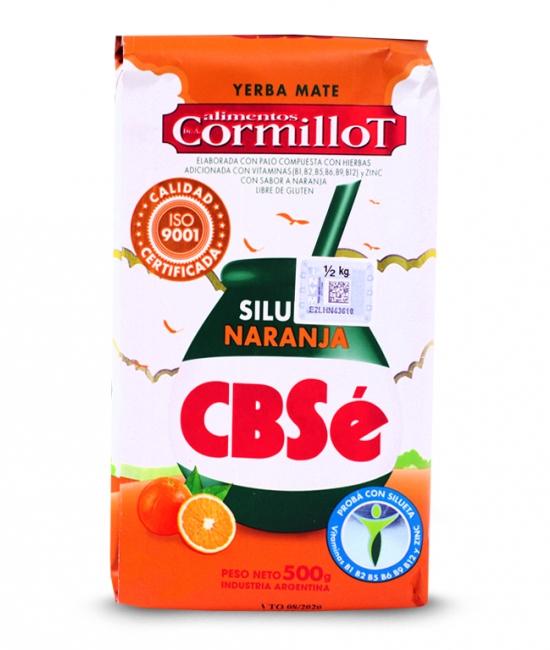 Yerba mate CBSe Silueta Naranja pomarańczowa 500g
