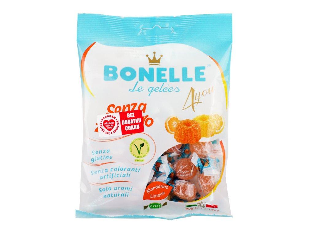 Żelki o smaku cytryny i mandarynki Bonelle 90g