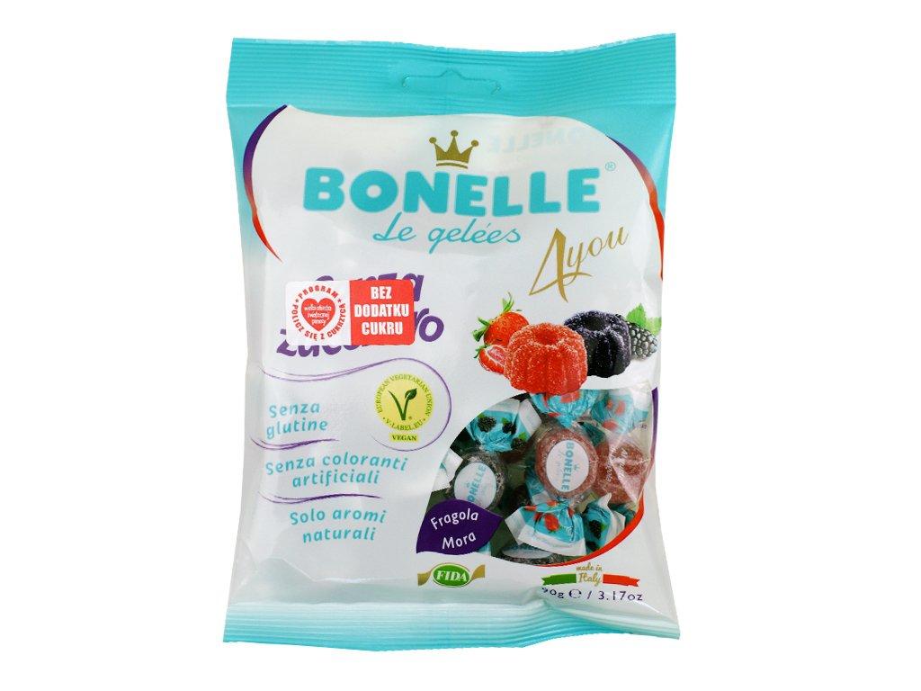 Żelki o smaku jeżyny i truskawki Bonelle 90g