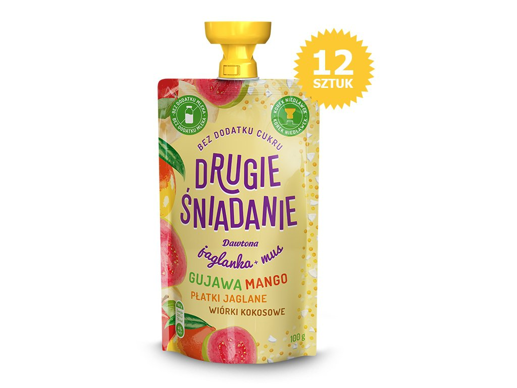 12X Jaglanka z Guawą Mango i Wiórkami 100g Dawtona