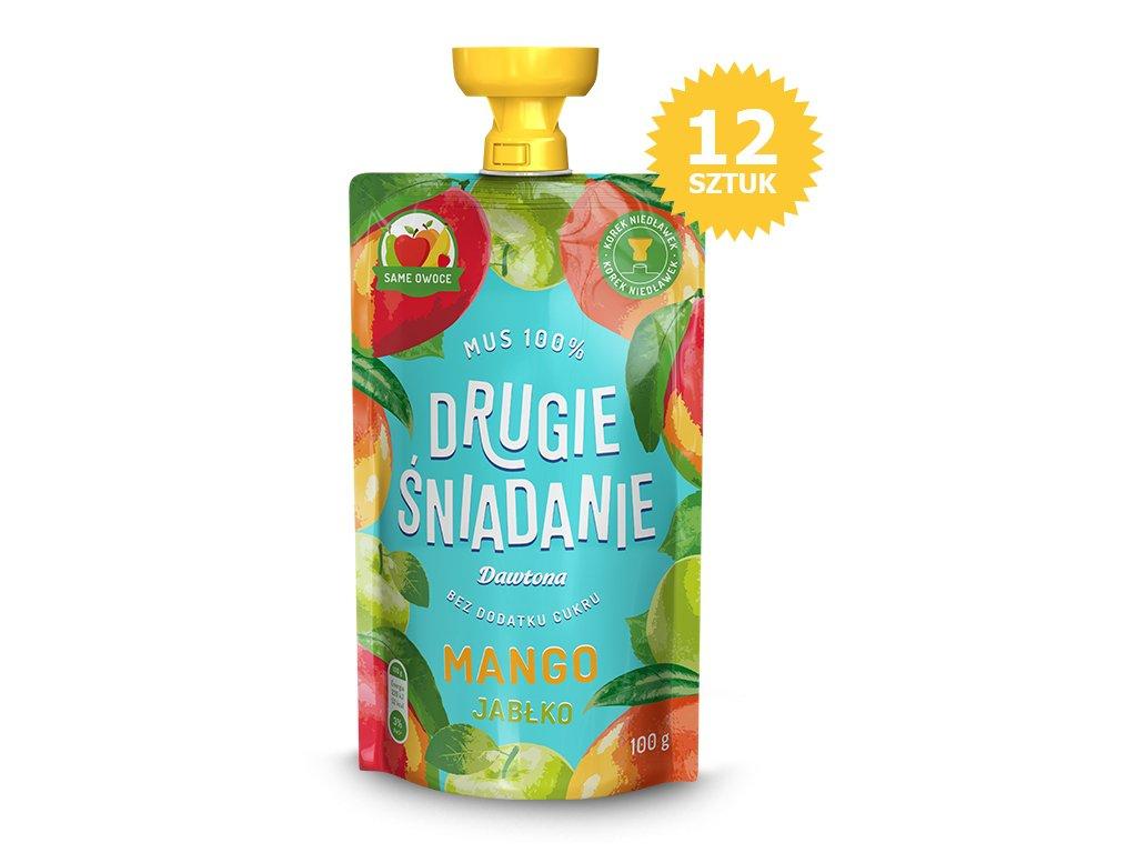 12X Mus owocowy-Jabłko/Mango 100% 100g Dawtona