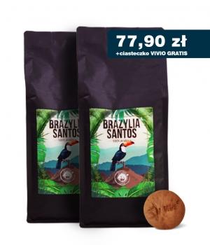 Kawa Brazylia 2kg palona ziarno Blue Orca + gratis