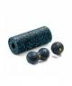 Zestaw wałek + piłka + double do masażu niebieski