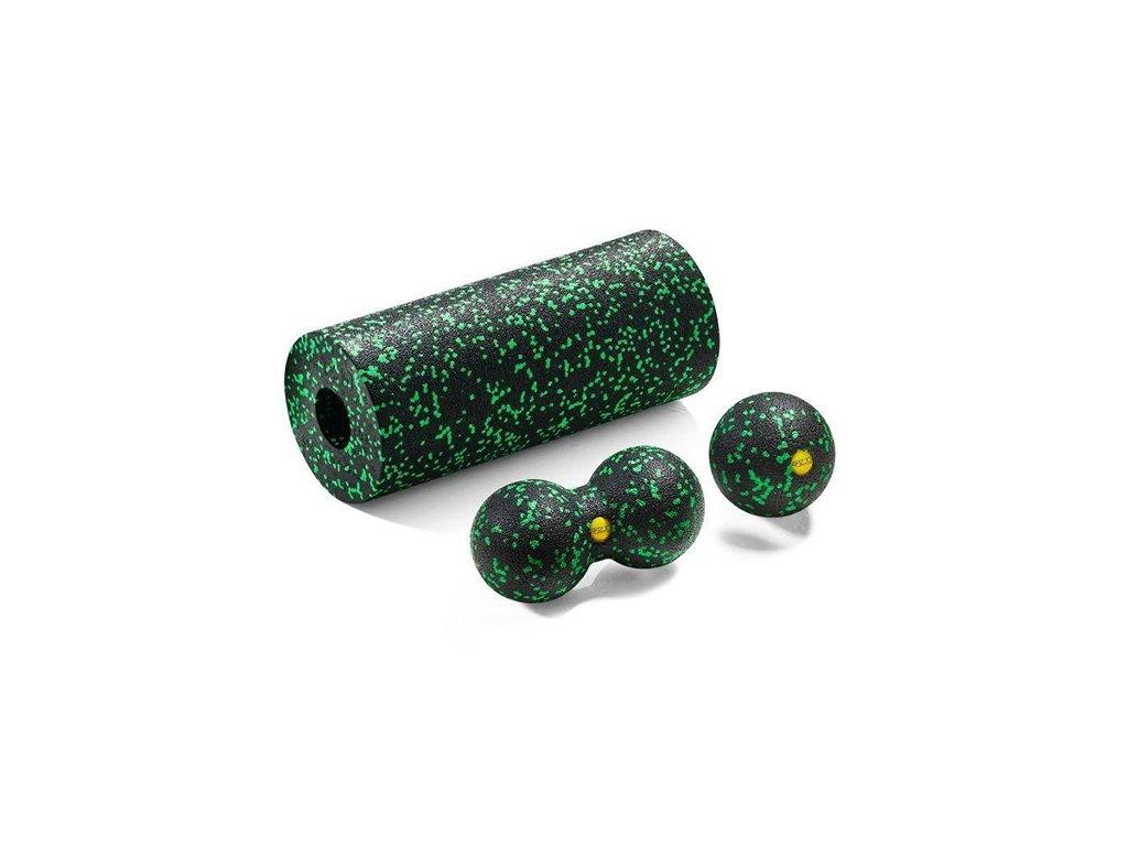 Zestaw wałek + piłka + double do masażu zielony