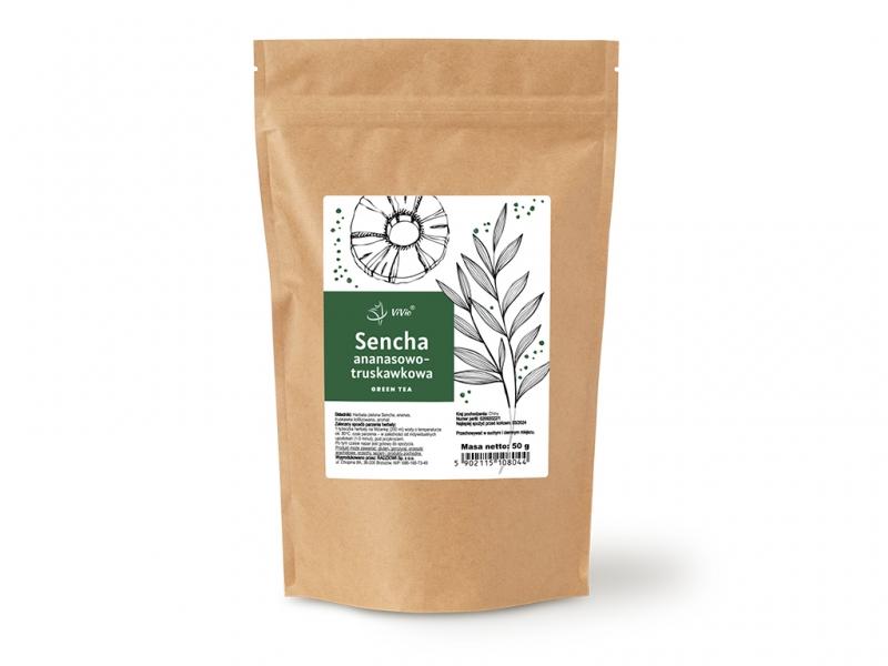 Herbata sencha ananas-truskawka