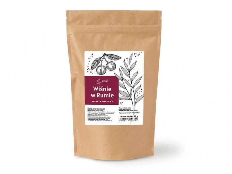 Herbata wiśnie w rumie