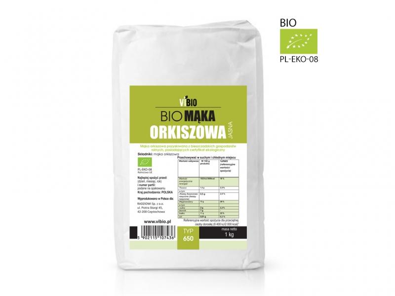 BIO Mąka orkiszowa typ 650 jasna